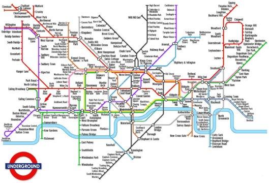 Jalur Kereta di London (Sumber : leopoldamanza.narod.ru)